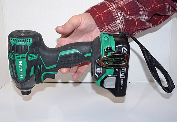 Balancing the Hitachi Triple Hammer at the center of gravity