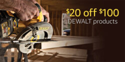 Dewalt 20 off 100 Coupon Fathers Day 2017