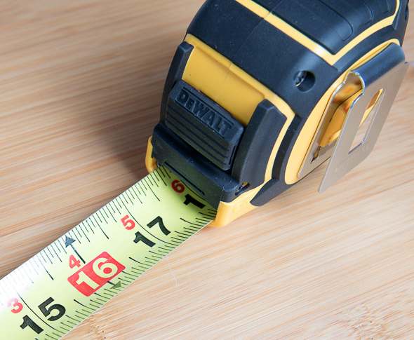 Dewalt XP Tape Measure Blade Closeup