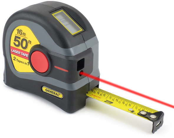 General Tools Laser Tape Measure Usage Example