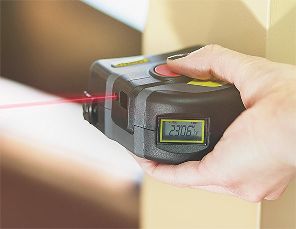 General Tools Laser Tape Measure in Action