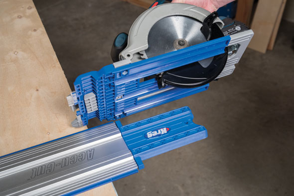 Kreg Accu-Cut Circular Saw Guide Attaching to Guide Rail
