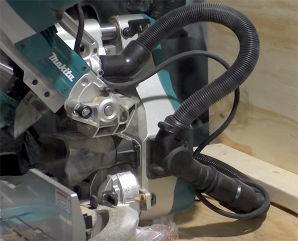 Makita XSL06 X2 Cordless Brushless Miter Saw Dust Collection