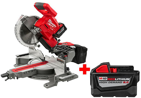 Milwaukee M18 Fuel Cordless Miter Saw with Bonus Battery