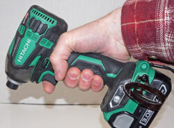 My grip on the Hitachi Triple Hammer impact driver