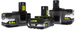 New Ryobi 3.0Ah, 6.0Ah, 9.0Ah 18V One+ High Energy Battery Packs