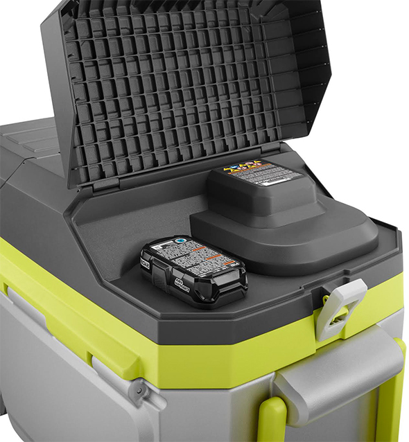 Ryobi Air Conditioned Cooler Battery Compartment