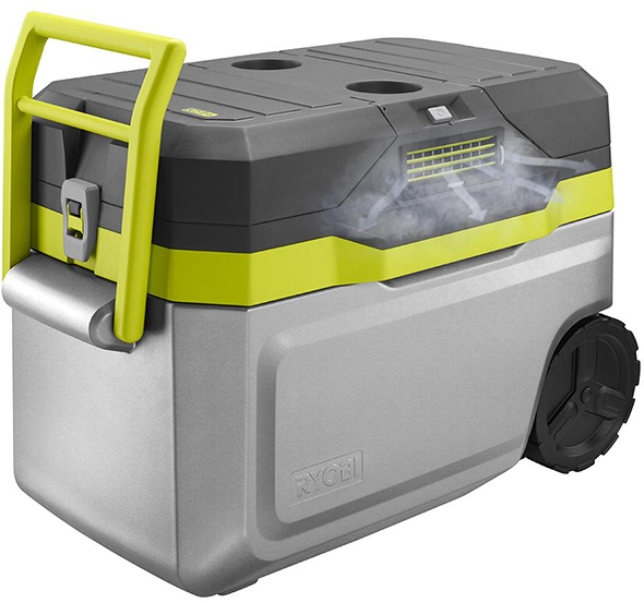 Ryobi Air Conditioned Cooler with Air Vent Render