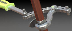 'Kirk Wrench – a Reconfigurable Modular Wrench for Tight Spaces' from the web at 'http://toolguyd.com/blog/wp-content/uploads/2017/05/The-Kirk-Wrench-used-on-a-compression-fitting-250x108.jpg'
