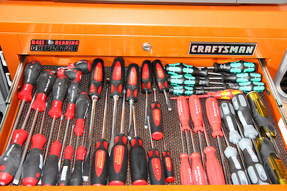 ToolGuyd Screwdriver Tool Box Drawer March 2011