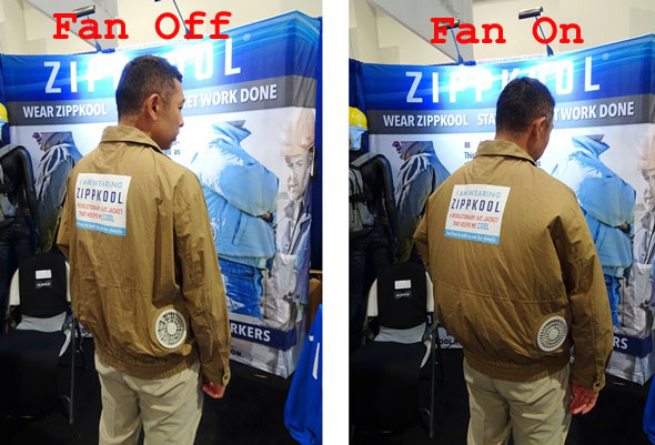 Zippkool fan cooled jacket in use