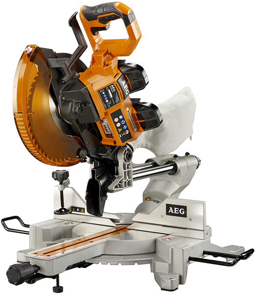 AEG 18xV 2-Battery 10-Inch Sliding Miter Saw