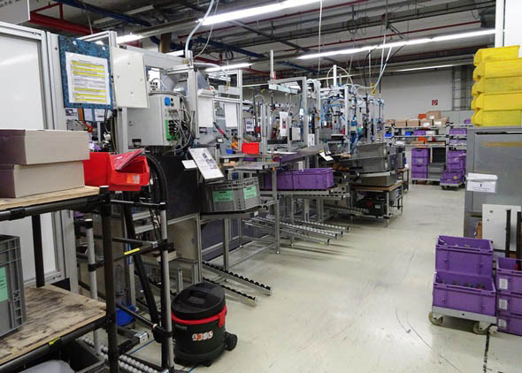 Assembly area at Metabo factory in Germany