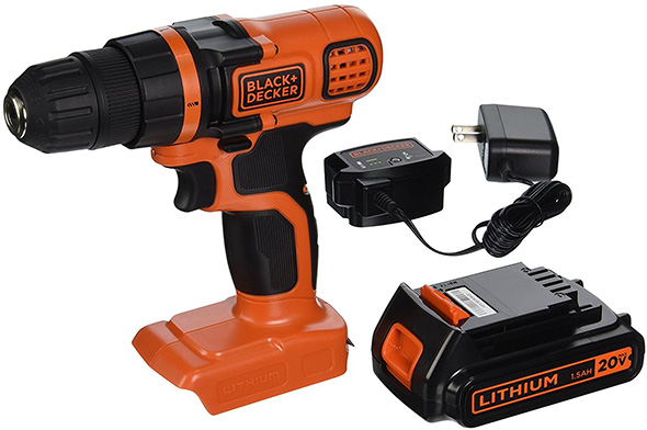 Black and Decker LDX120C Cordless Drill Kit