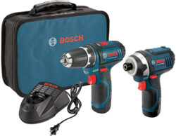 HOT DEAL: Bosch 12V Cordless Drill and Impact Driver Combo Kit for $99