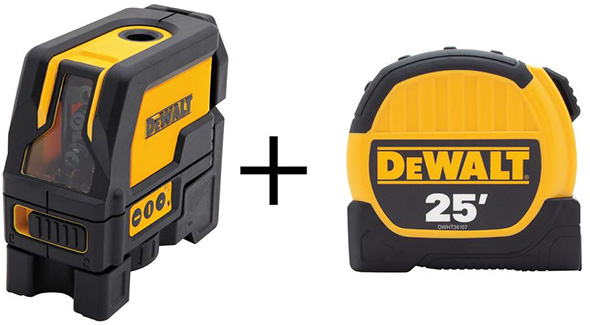 Dewalt DW0822WDT Laser and Tape Measure Bundle