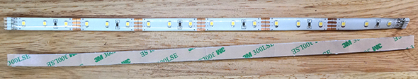Front and back of LED strip lights