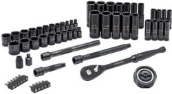 Husky 60pc Universal Mechanics Tool Set with 100-Position Ratchets and Universal Sockets