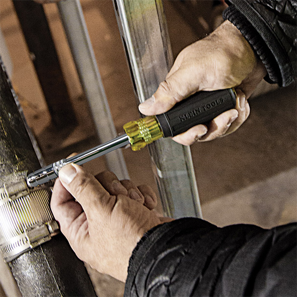 Klein Side Driver in Action with Hex Head Fastener