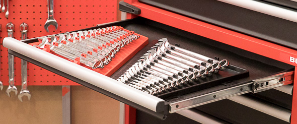 Milwaukee 46-Inch Premium Tool Storage Combo Lower Cabinet Drawer with Wrench Sets