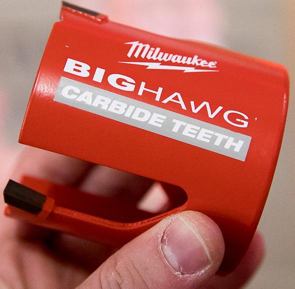 Milwaukee Big Hawg Hole Saw with Carbide Teeth Angled
