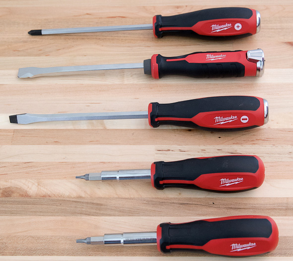 Milwaukee Ergonomic and Demo Screwdrivers for 2017