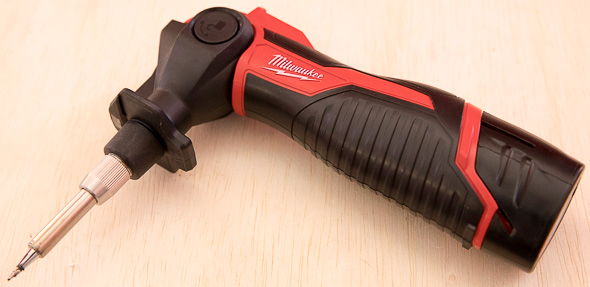 Milwaukee M12 Cordless Soldering Iron Pivoted Head