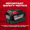 Milwaukee M18 9Ah High Demand Safety Notice