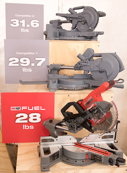 New milwaukee m18 fuel 7 14 dual bevel sliding compound miter saw milwaukee m18 fuel compact sliding miter saw competitor weight comparison greentooth Image collections