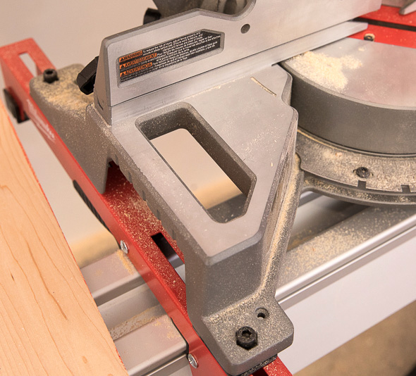 Milwaukee M18 Fuel Compact Sliding Miter Saw Side Handles