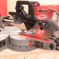 Milwaukee M18 Fuel Compact Sliding Miter Saw in Closed Position