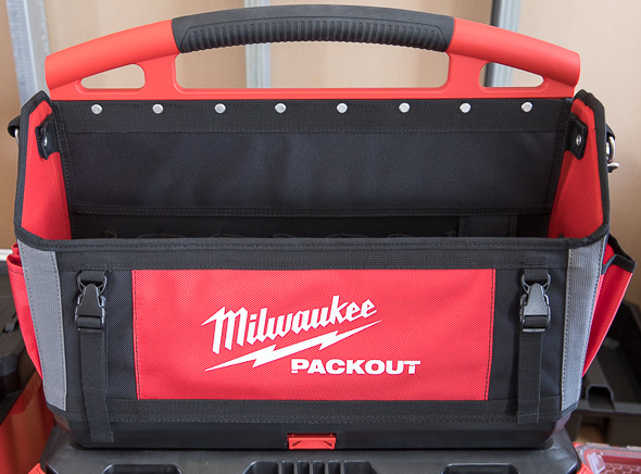 Milwaukee Packout Large Tool Bag Open Compartment