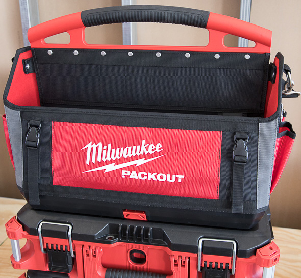 Milwaukee Packout Large Tool Bag with Tool Boxes Connected