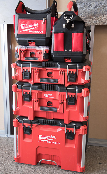 Milwaukee Packout Tool Box and Tool Bag Stack