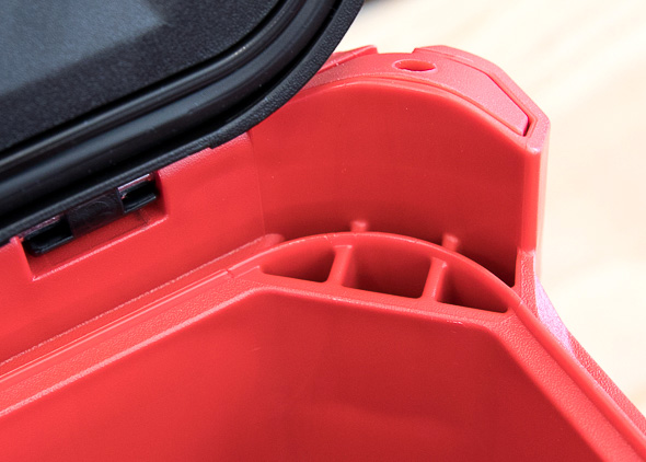 Milwaukee Packout Tool Storage Bottom Lid Seal and Drainage Holes