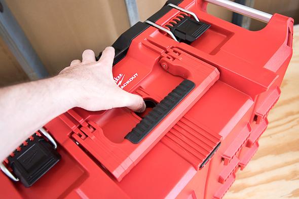 Milwaukee Packout Tool Storage Large Tool Box Unlocking Hand Span