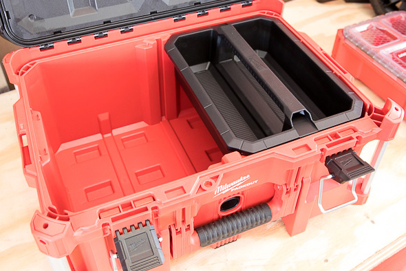 Milwaukee Packout Tool Storage Large Tool Box with Half Side Tool Tote
