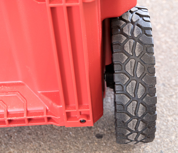 Milwaukee Packout Tool Storage Roller Tool Cart Wheel Tire Rear