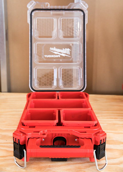 Milwaukee Packout Tool Storage Small Organizer Open Lid