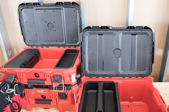 Milwaukee Packout Tool Storage Small and Larhe Tool Box Tick Mounting Positions