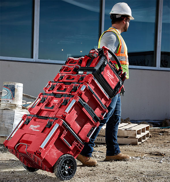 Milwaukee Packout Tool Storage Tall Tool Box Stack