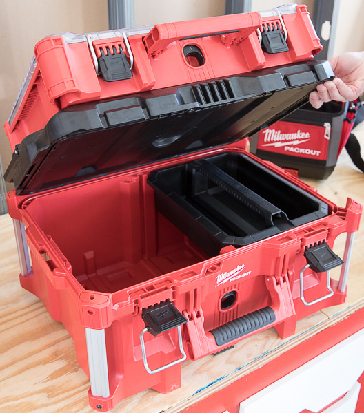 Milwaukee Packout Tool Storage with Open Bottom Box