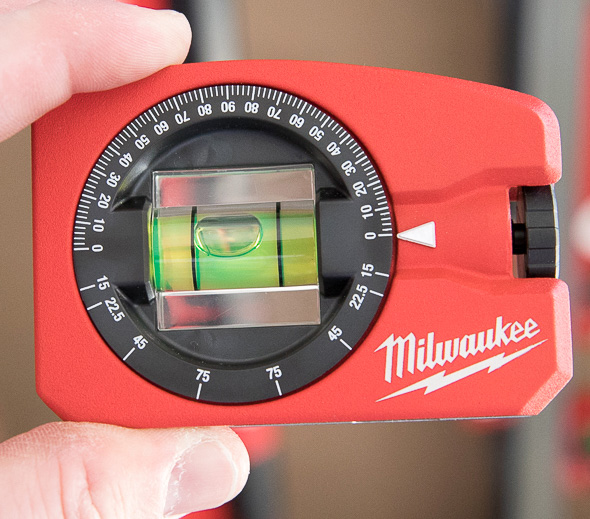 Milwaukee Pocket Level with Adjustable Angle Close to Zero