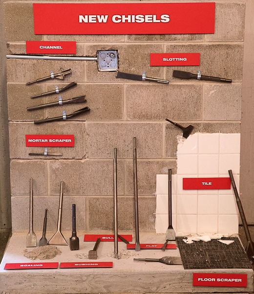 Milwaukee Tool New Masonry Chisels