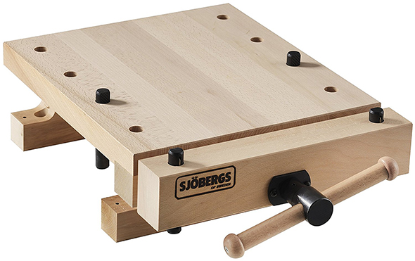 Sjobergs SJO-33309 Smart Workstation Pro Vise with European Beech Workbench Top