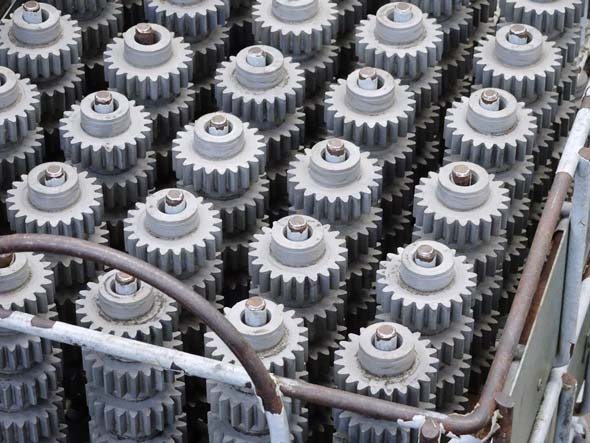 Tool gears after heat treating at Metabo Factory in Germany