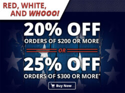 Zoro Red, White, & WHOOO Sale, 25% off $300+, thru 6/28/17