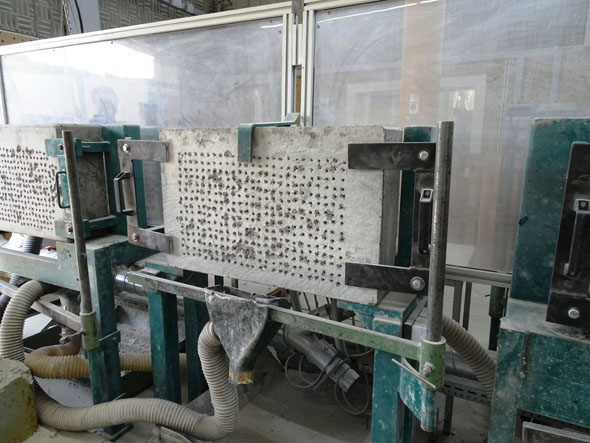 concrete for testing rotary hammers at Metabo factory