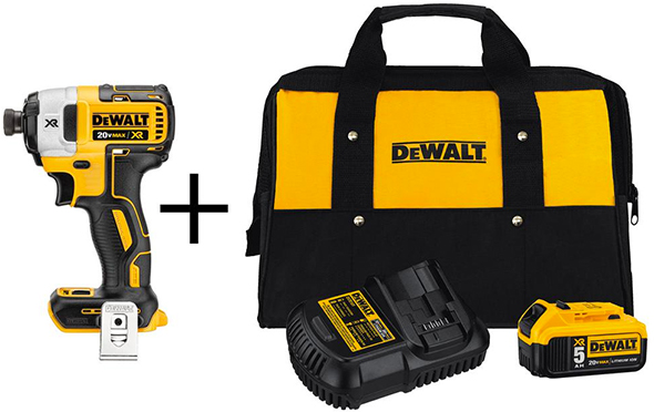 Dewalt Brushless Impact Driver with Battery Starter Kit