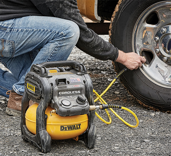 Dewalt Cordless Air Compressor DCC2560T1 Tire Fillup